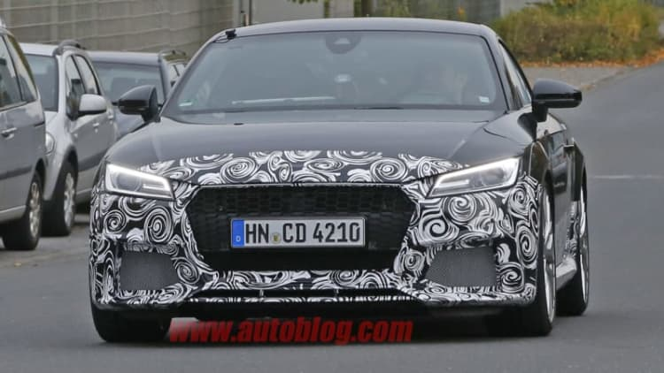Audi TT RS shows its meaner face in new spy shots