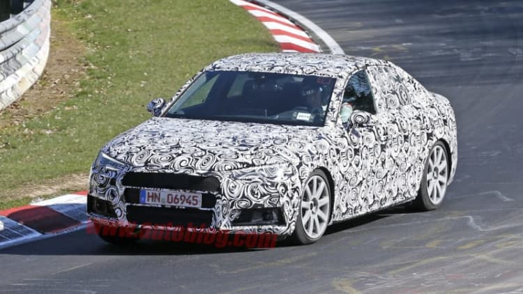 Audi spotted testing new S4 at the Nurburgring