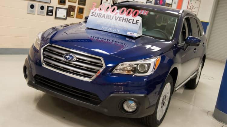 Subaru builds 3 millionth car in America
