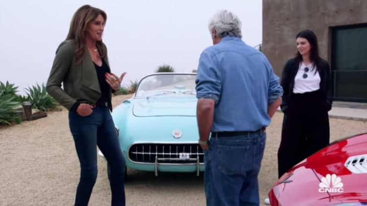 Jay Leno gives Caitlyn and Kendall Jenner a lesson in Corvette value