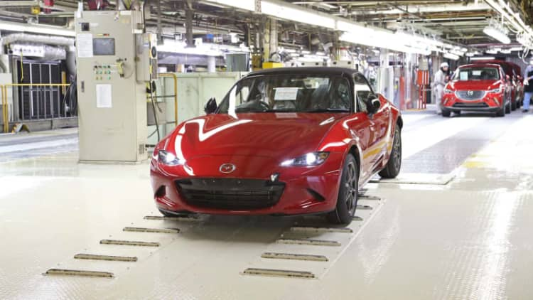 Mazda starts production of new MX-5 Miata in Japan