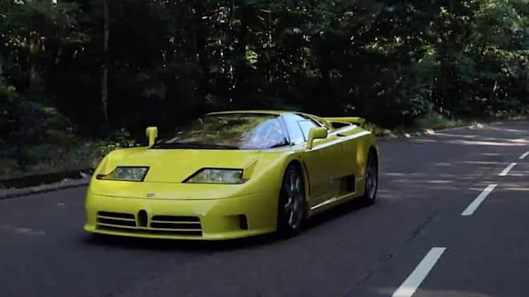 Watch Chris Harris fall in love with a Bugatti EB110 SS