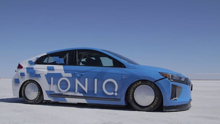 Hyundai Ioniq Hybrid plus nitrous equals FIA speed record