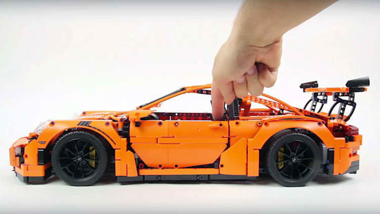 Watch the Porsche 911 GT3 RS become Lego reality