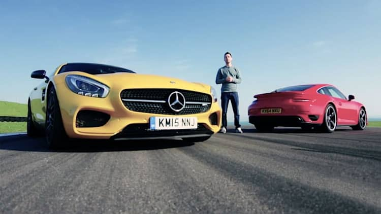Mercedes-AMG GT S pit against Porsche 911 Turbo in Evo Deadly Rivals test