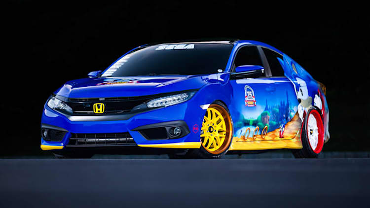 Sonic-themed Honda Civic spin-dashes into Comic-Con