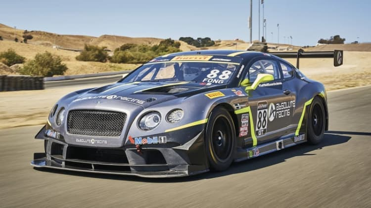 What it's like to drive Bentley's Continental GT3 racecar