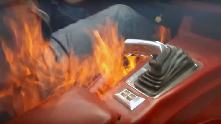 Watch a 700-hp Chevy Camaro burst into flames suddenly
