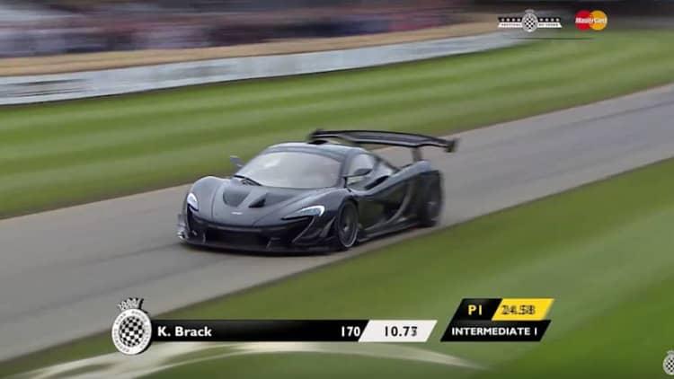 Watch the McLaren P1 LM break Goodwood FoS roadcar record