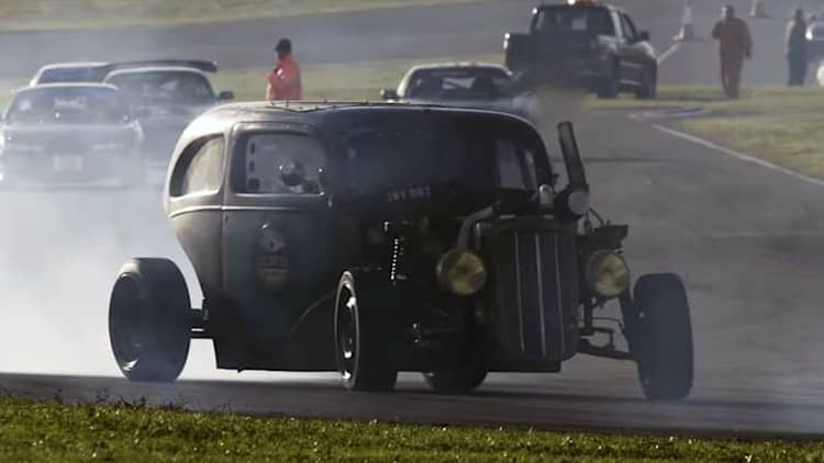 Saab-powered Ford is the most unlikely drift car we've seen