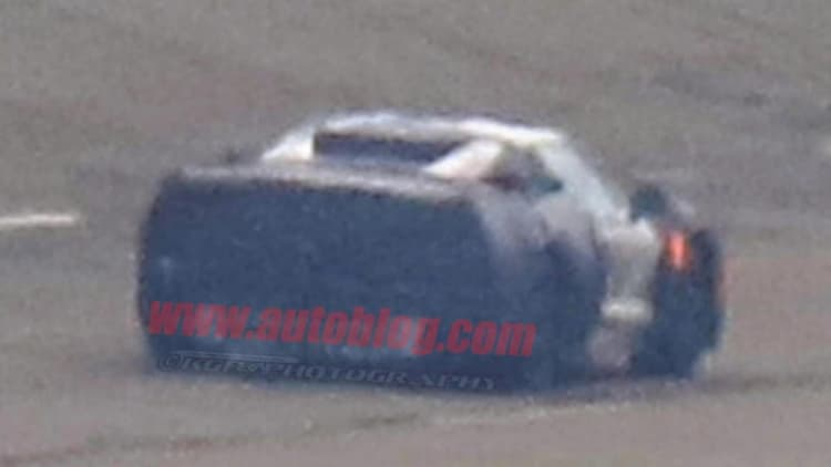 Mid-engine Chevy Corvette captured in broad daylight