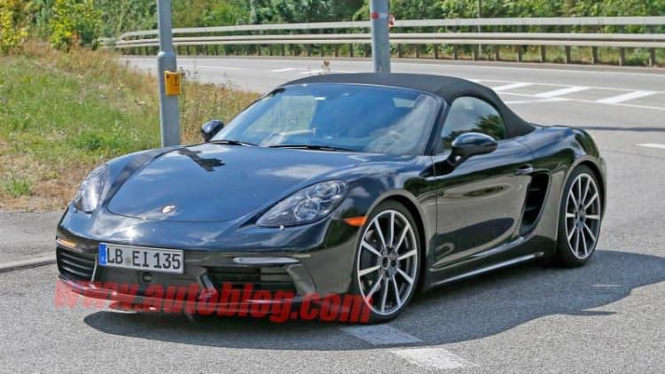 Porsche Boxster spied in the buff