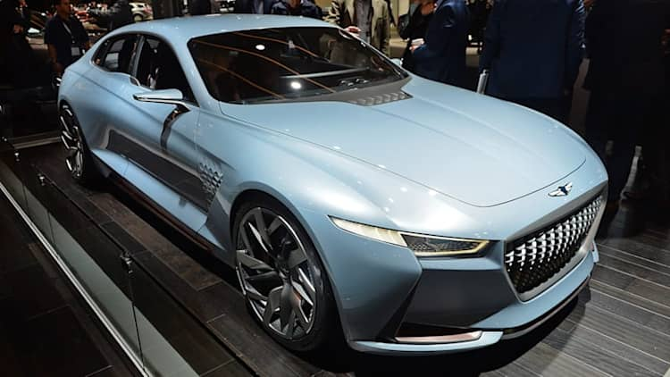 Genesis Hybrid Sports Sedan Concept previews future styling