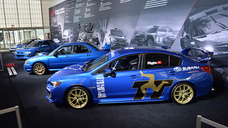 Subaru STI display celebrates the division's high-performance history in New York