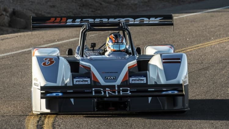 Rhys Millen wins Pikes Peak under all-electric power
