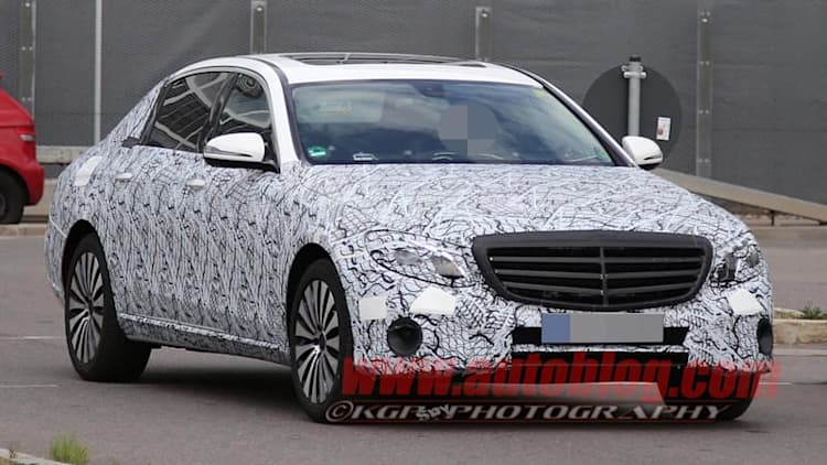 Mercedes caught testing stretched E-Class Maybach