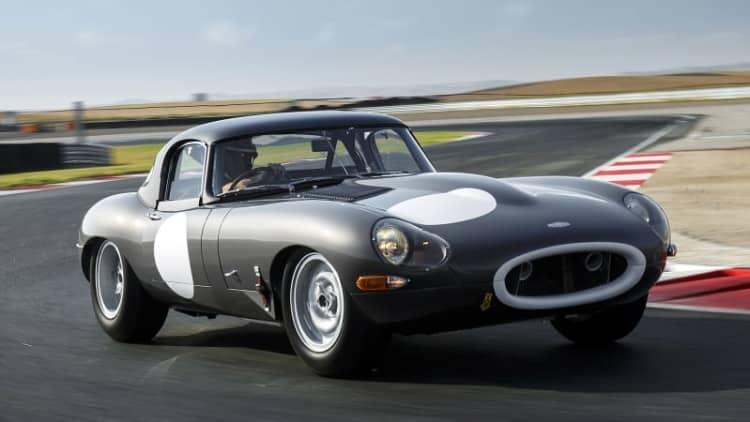 Driving Jaguar's Continuation Lightweight E-Type