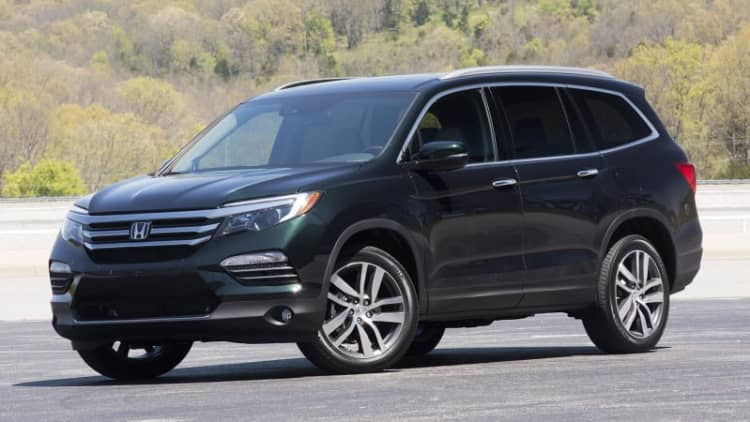 2016 Honda Pilot earns IIHS Top Safety Pick+ score