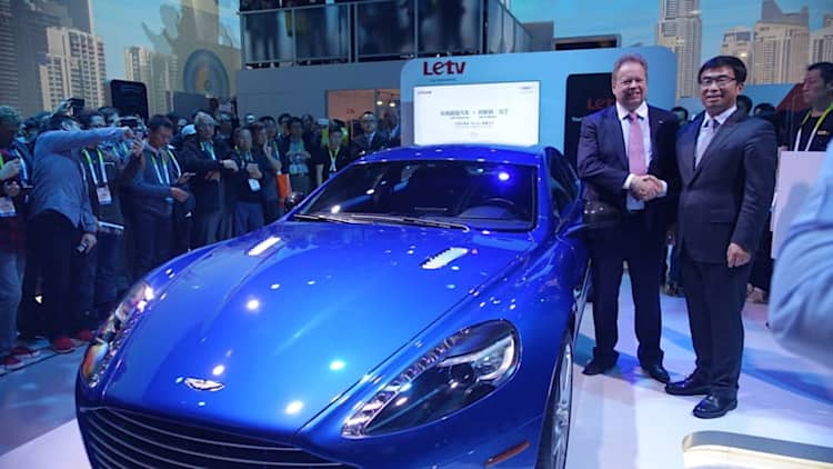 Aston Martin Rapide puts the future on display at CES