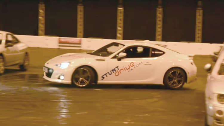 Watch a Subaru BRZ nail world-record tightest 360 spin