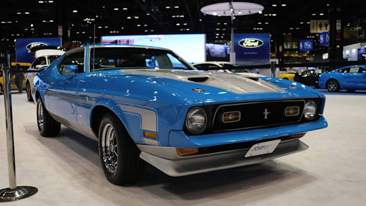 1971 Ford Mustang Mach 1 appears at Chicago Auto Show
