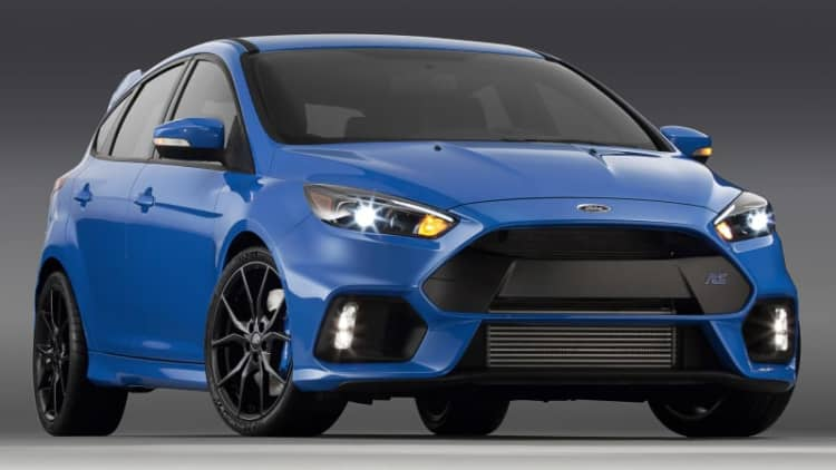 Inside the 2016 Ford Focus RS at the New York Auto Show