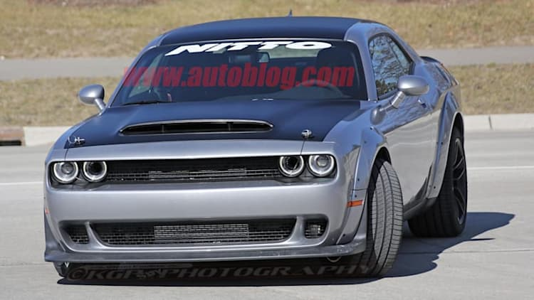 Dodge Demon test mule spotted wearing unusual camouflage