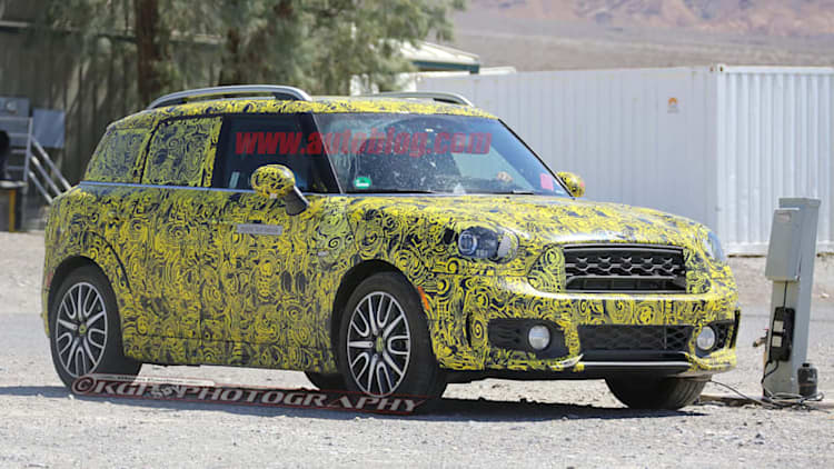 Mini Countryman PHEV caught at electric watering hole