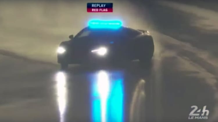 Watch the Le Mans Audi R8 safety car drift during red flag