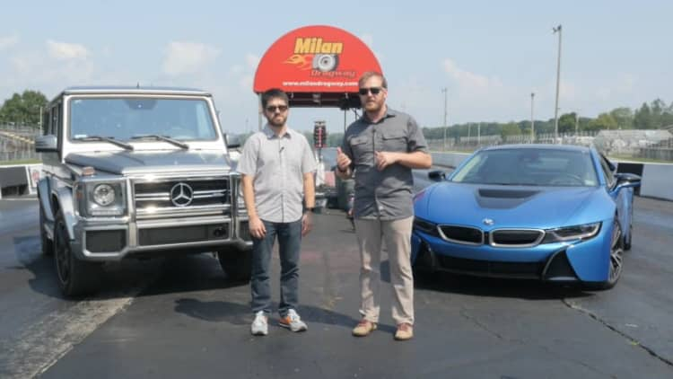 Mercedes G63 vs. BMW i8: Our silly drag race between the past and future