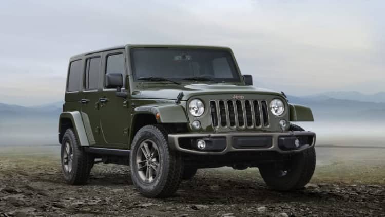 2016 Jeep Wrangler recalled over impact sensor wiring