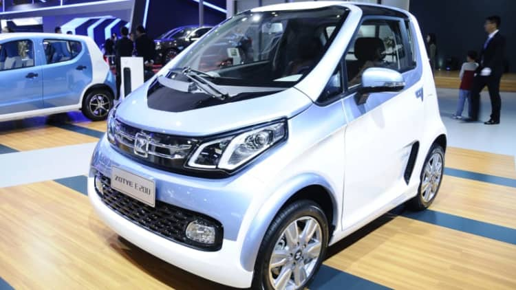 Zotye had two EVs in Shanghai