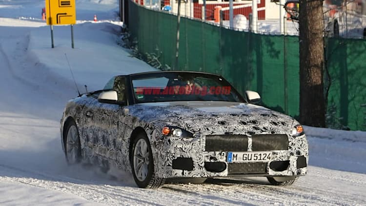 The BMW Z5 looks great with its top down, even in the middle of winter