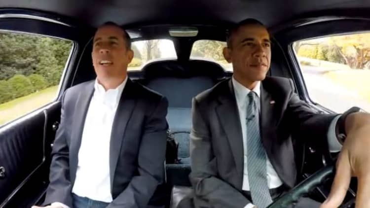 Watch President Obama drive a Corvette around the White House