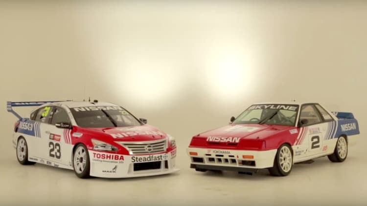 Nissan goes retro with Bathurst racing livery [w/video]