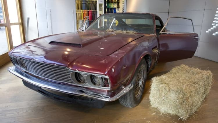 Last original Aston Martin DBS found in barn headed to auction