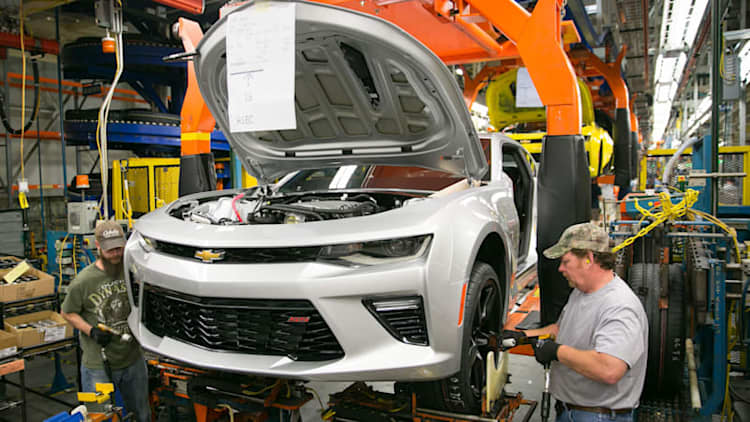 GM invests $175 million in Chevy Camaro factory