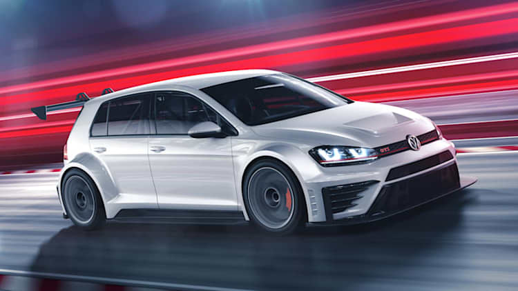 This is Volkswagen's 330-hp GTI touring car racer