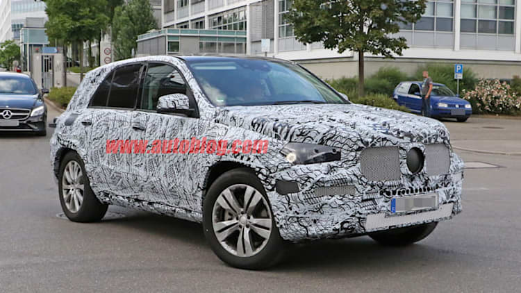 Mercedes-Benz GLE prototype caught on camera