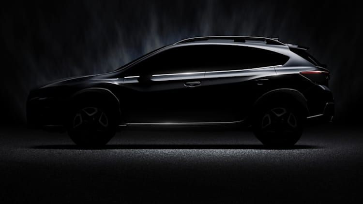 You can almost make out the shape of the new Subaru Crosstrek