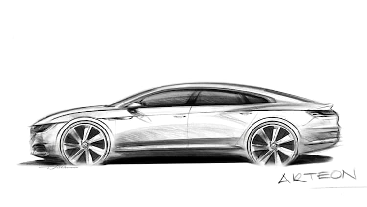 This Volkswagen Arteon sketch previews a premium future for the brand