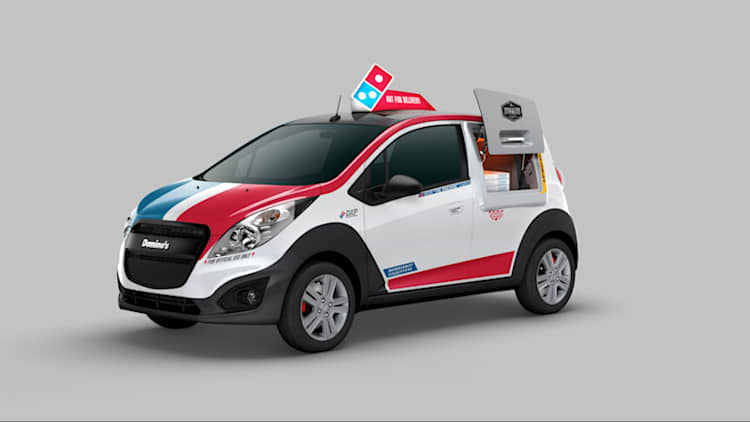 Domino's reveals Chevy Spark-based delivery car