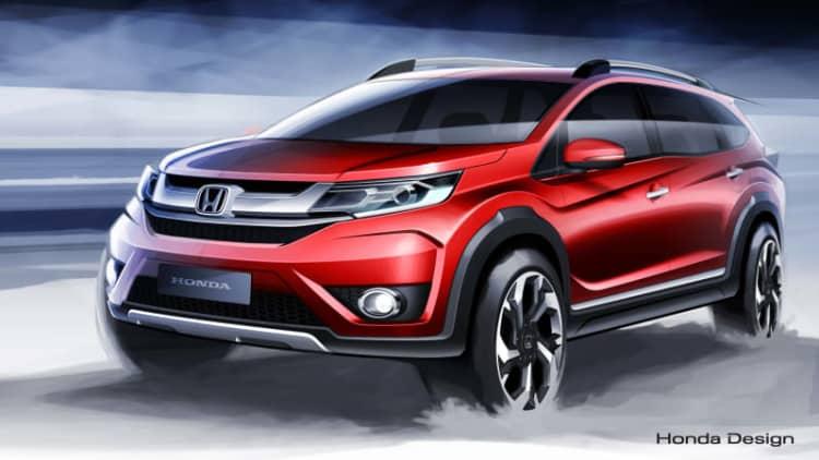 Honda previews new BR-V three-row crossover for Indonesia