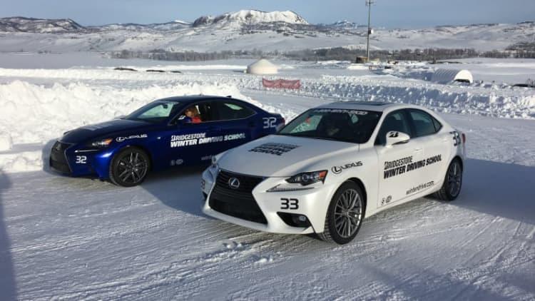 Ice driving at the Bridgestone Winter Driving School | AutoblogVR