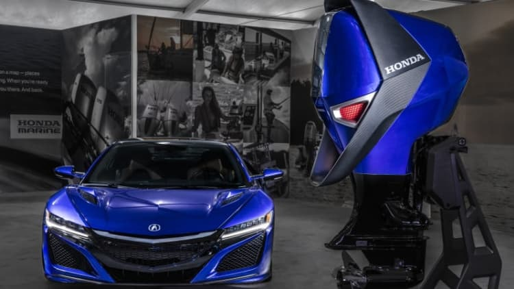 This Honda Marine concept engine brings a little NSX to the water