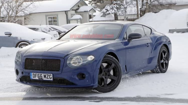 Prototype Bentley Continental GT bears EXP10-style taillights