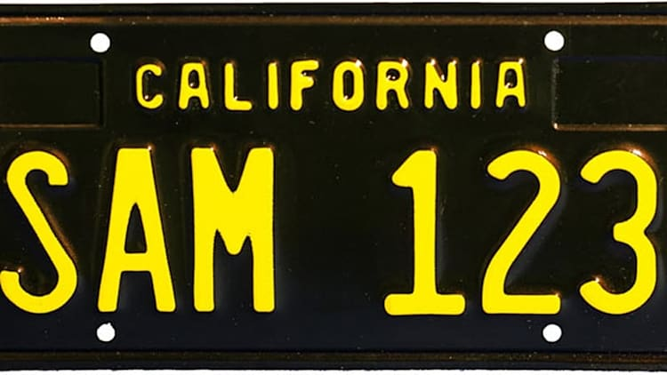 Black-and-gold California license plates return after nearly 50 years
