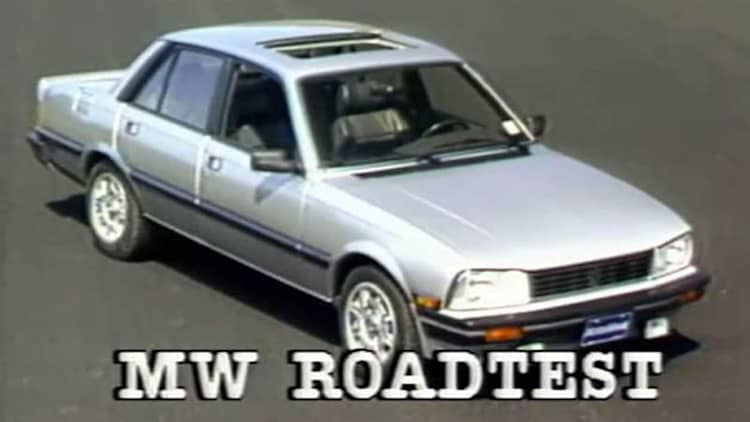 VW Jetta GLI, Peugeot 505 are MotorWeek's 1986 Euro sport sedan alternatives