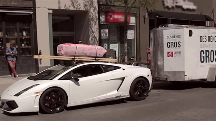 Lamborghini Gallardo ready to tow your Home Depot load