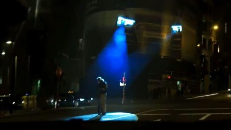 Audi billboard tracks pedestrians like prison escapees